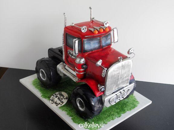 cakelava: Monster Truck Birthday Cake