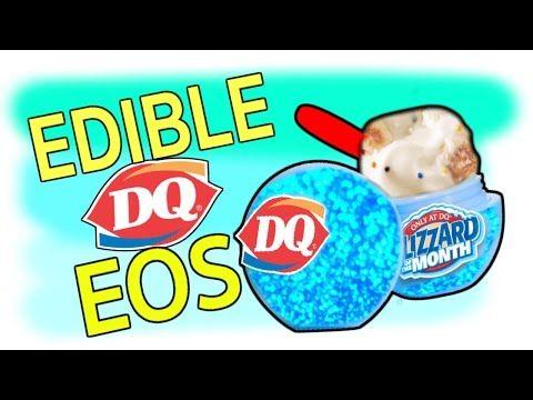 DIY Edible EOS Dairy Queen Lip Balm! Confetti Cake Blizzard Flavor EOS! Eat EOS Lip Balms! - YouTube