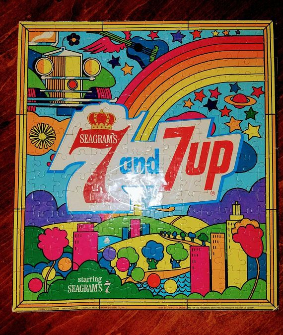 Check out this item in my Etsy shop https://www.etsy.com/listing/546857499/seagrams-7-and-7up-puzzle-rainbow-peter