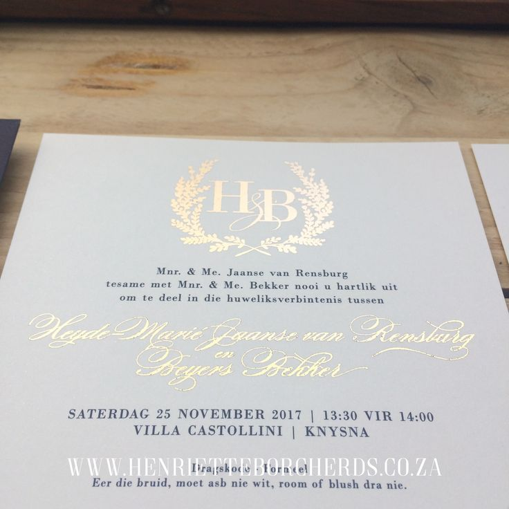 Gold foil & Navy. Hand foiled. Custom Envelope. @h_borcherds. Wedding Stationery.