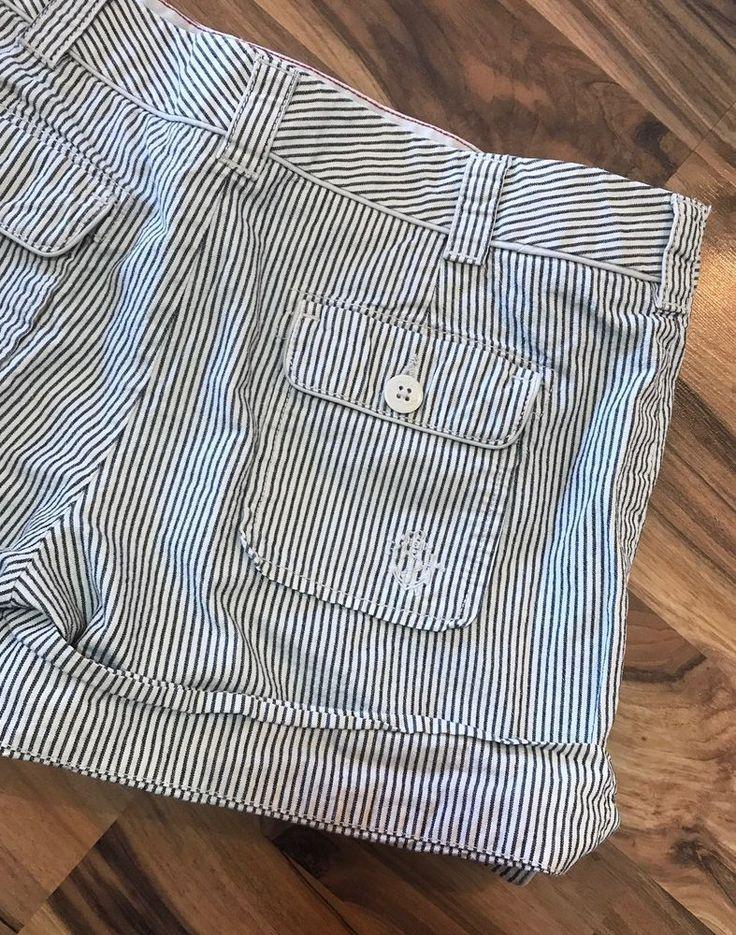 Polo Jeans Company Ralph Lauren Striped Sailor Shorts Sz 6  | eBay