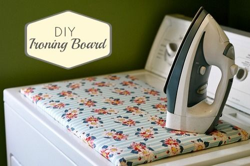 space saver solution | DIY small ironing board (plus it's cute!)