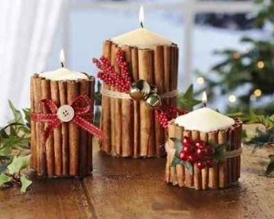 Decori natalizi con la cannella