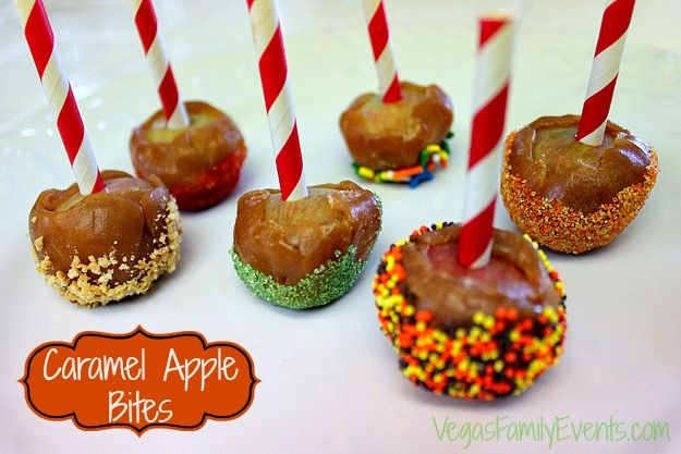 Caramel for Apples | Bites DIY No longer a Pinterest Urban Legend!  We figured out how to get the caramel to STICK TO THE APPLE BITES!  Best part, it's super easy to do :)