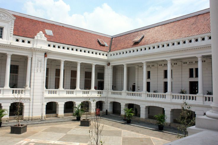 Bank Mandiri Museum Jakarta, constructed in 1929 and previously the first headquarters of the Netherlands Trading Society, one of the primary ancestor of ABN AMRO.