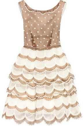 Sweet afternoon tea dress.Fashion, Polka Dots, Style, Marcjacobs, Marc Jacobs, Scallops Dresses, Afternoon Tea, Organza Dresses, Jacobs Scallops