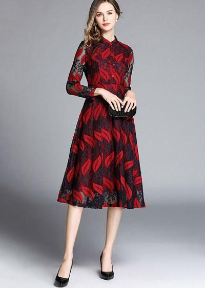 3823be4c7 Vestido de Renda Evasê Midi Moda Evangelica em 2019 | Vestido Renda ...