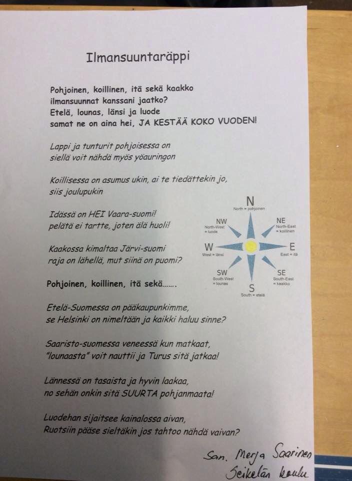 Ilmansuuntaräppi/Suomi/Merja Saarinen