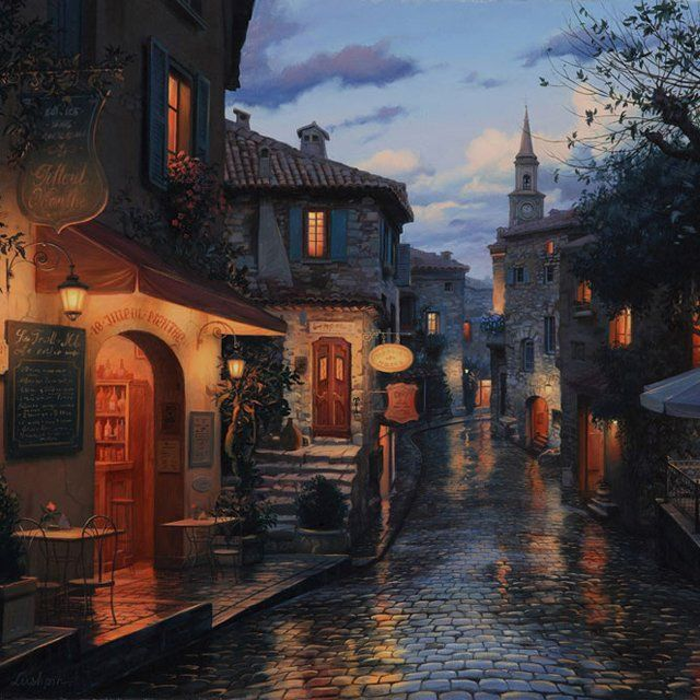 Eze, France: Contemporary Artists, Favorite Places, Evgeni Lushpin, Eugene Lushpin, Romantic Places, Beautiful, France Eze, Painting, French Riviera