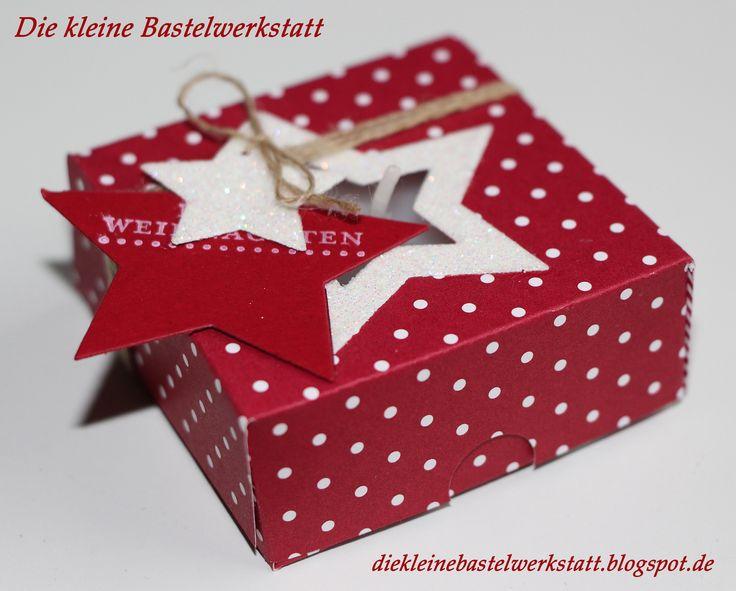 Beschreibung bearbeiten     Stampin Up Weihnachten Stern Maxi-Teelicht Teelicht Teelichtverpackung Geschenk Geschenkverpackung Verpackung