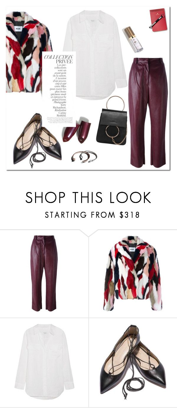 """""""Untitled #1008"""" by mjangirashvili ❤ liked on Polyvore featuring MM6 Maison Margiela, MSGM, Equipment, By Terry, Garance Doré and Michael Williams"""