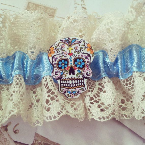 Sugar Skull Sweetheart vintage style wedding by OohLaLaBoudoir....AWESOME!