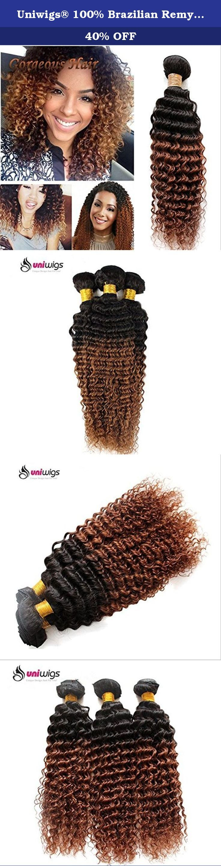 Uniwigs® 100% Brazilian Remy Human Hair Weft Ombre Color Kinky Curly Hair Extensions One Bundle (14inch). Feature: 1. This 100% human hair weft provides volume and length and instantly transforms thin, medium-length. 2. This weft is perfect for your DIY clip-in or fusion or sewing extension method. 3. Exquisite machine stitched craft makes hair secure in the weft. Specifications: 1. Hair material: 100% Brazilian human hair 2. Color: Ombre Color, T1B/33 3.Style:Kinky Curly 4. Hair Length:...
