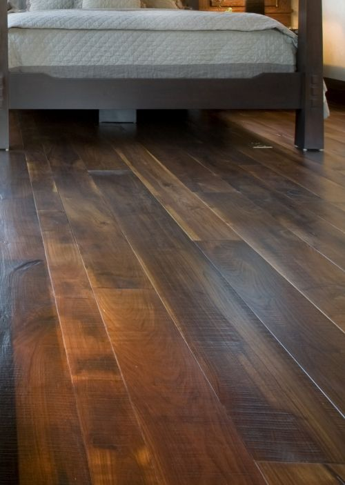 Wide Plank Walnut Flooring Finished With A Clear Matte Finish For Low SheenFloor FloorsDark Wood