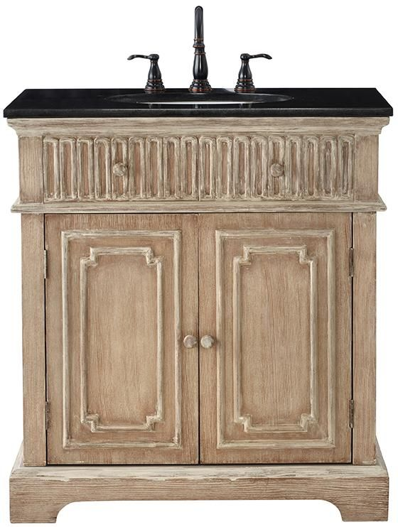 Home Decorators Collection Manor 32 In. Vanity In Washed Oak With Granite  Vanity Top In   The Home Depot
