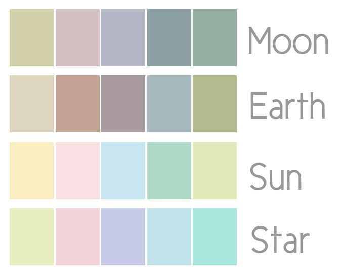 pastel colors moon earth sun and star color palettes. Black Bedroom Furniture Sets. Home Design Ideas