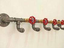 Industriedesign Garderobe Stahlrohr