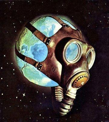 dibujos del planeta tierra contaminado en caricatura