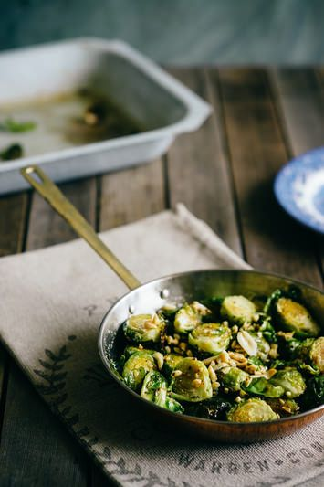 Roasted Brussels Sprouts with Honey and Peanuts (Souvlaki For The Soul)