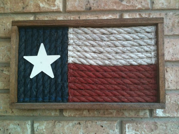 Painted Rope Texas Flag