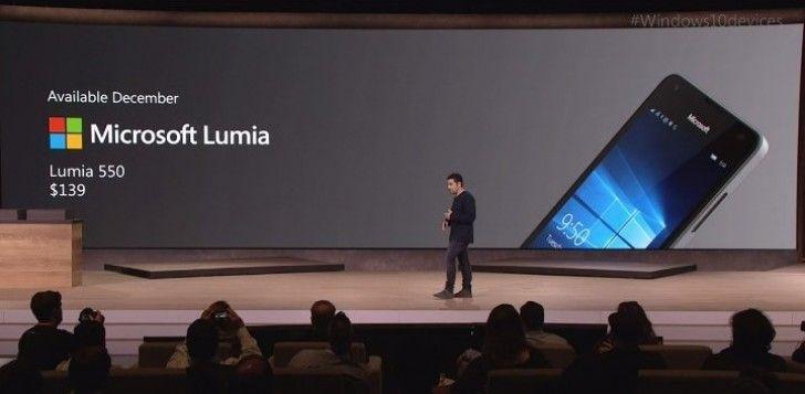 "$139 Microsoft Lumia 550 is a 4.7"" Windows 10 smartphone - GSMArena.com news"