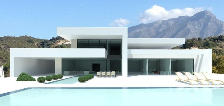 Modern villas for sale luxury contemporary villas and real estate in marbella cannes for Plan architecte villa moderne