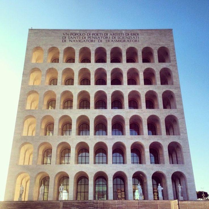 The square coliseum in Rome - Il colosseo quadrato. Fascinated by fascist architecture.