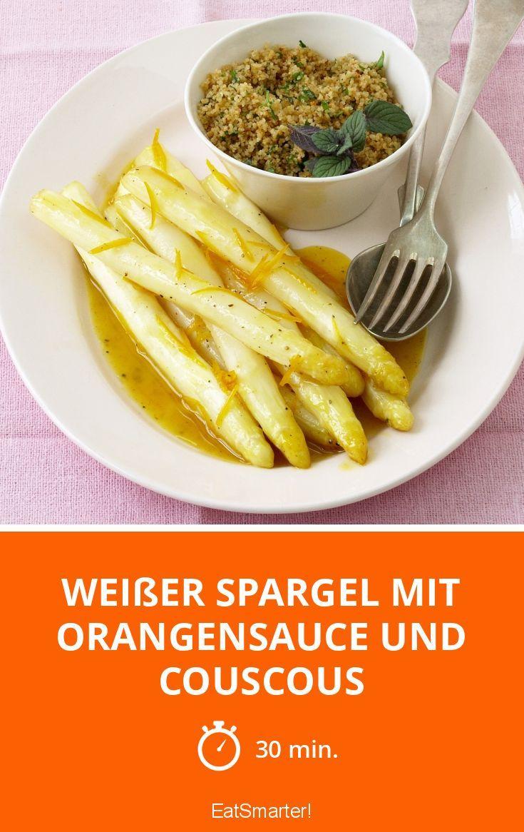 Weißer Spargel mit Orangensauce und Couscous - smarter - Zeit: 30 Min. | eatsmarter.de