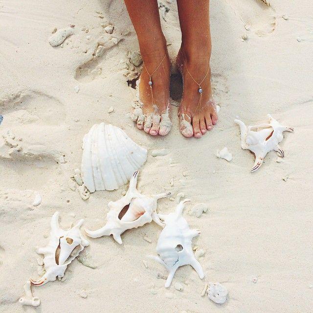 Shells and sand.➳ Pinterest: miabutler ♕☾♡