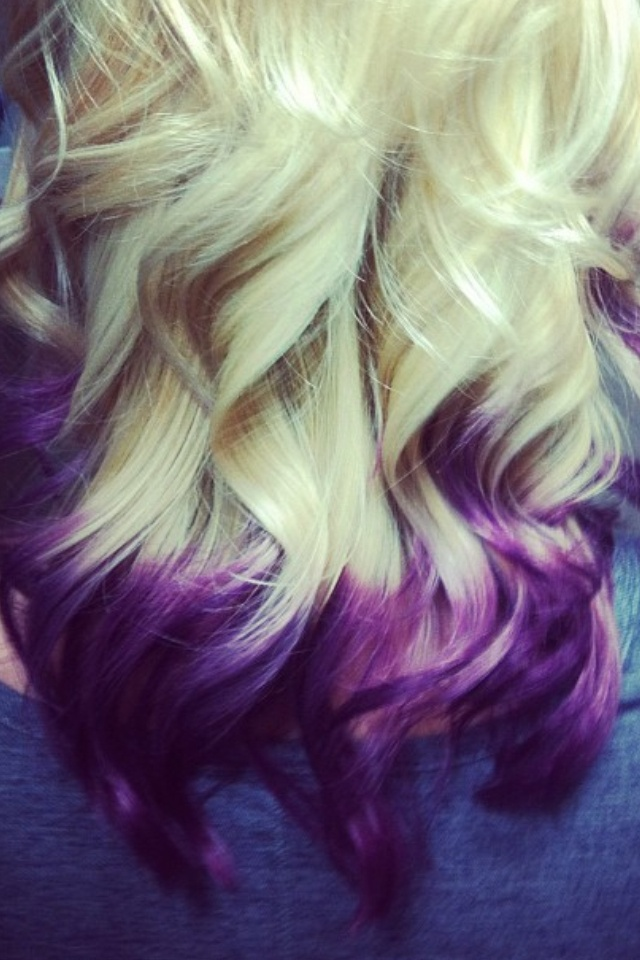 Purple tips <3 put some color in my life
