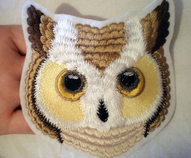 Real Owl -  Appliqué, applicationen, patch