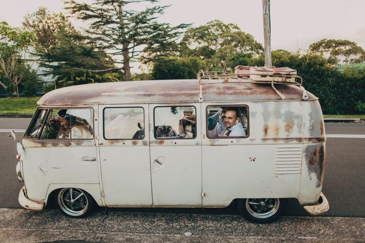 Rusty Wedding Bus