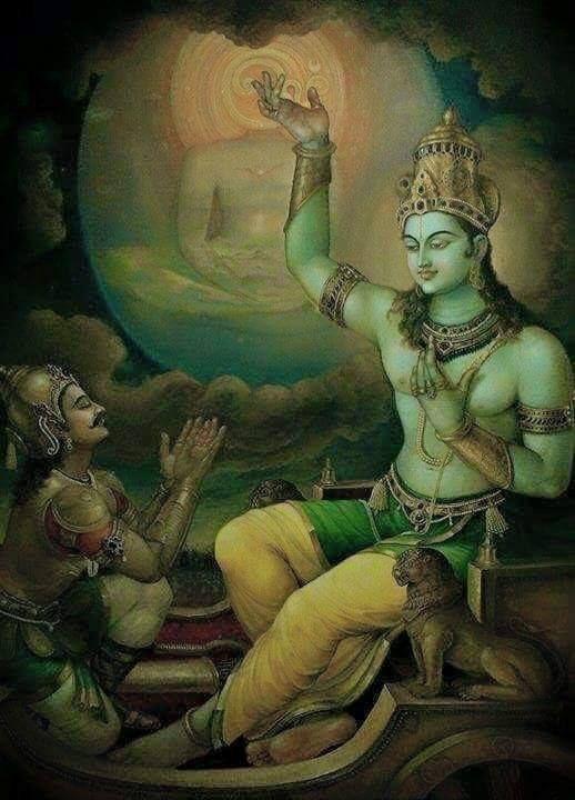 Krishna speaks the Bhagavad Gita to Arjuna. Currently reading the Mahabharata! The Bhagavad Gita is next!