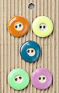 5 Bright Candy Buttons, Handmade, Fully Washable, Incomparable Buttons, ButtonMad by IncomparableButtons on Etsy