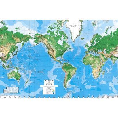 """World Map Wall Mural - 8'8""""x13'0"""""""