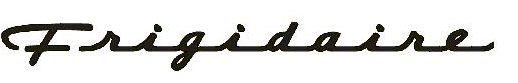 the old script logo for Frigidaire, with its dose of car culture flair.