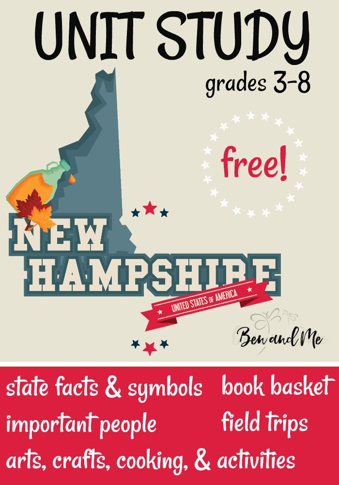 Free New Hampshire Unit Study Study Unit Teaching Middle School Family Time Activities