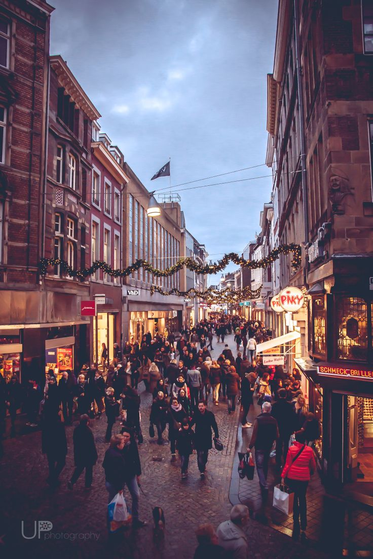 Christmas streets Maastricht.