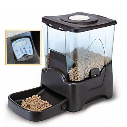 Large Automatic Pet Feeder Electronic Programmable Portion Control Dog Cat Feeder w/ LCD display: Pet Supplies
