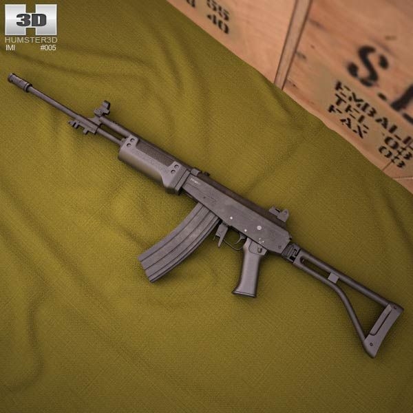 IMI Galil AR 3d model from humster3d.com. Price: $50