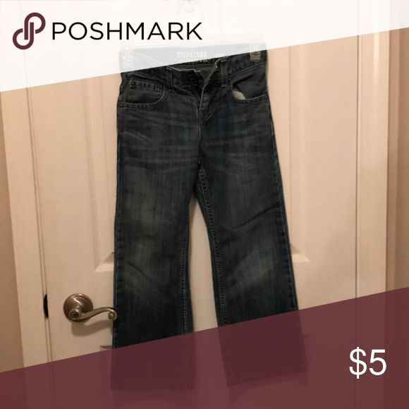 Boys Levi jeans. Worn once due to growth spurt! Jeans were worn once and have no damage or signs of wear. Gently laundered. Signature by Levi Strauss Bottoms Jeans