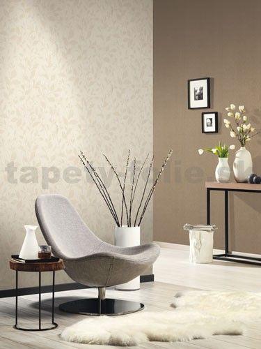 Vliesové tapety na stenu Casual Chic lístočky svetlo hnedé | tapety-folie.sk
