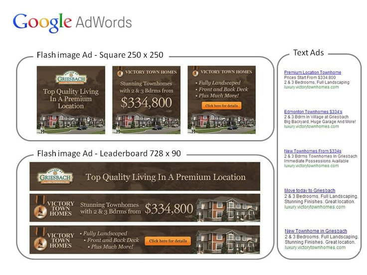Online Campaign for Abbey Lane Homes (Victory Townhomes - Village at Griesbach)  – Google online advertisement  to increase web traffic.  E-Marketing coordination and copy writing.  CSG – Consumer Strategies Group (Apr/2013)