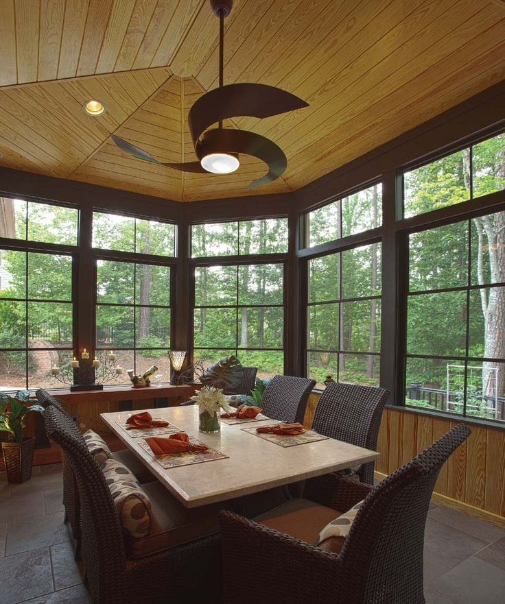 Wall of windows, Window and Screened porches on Pinterest