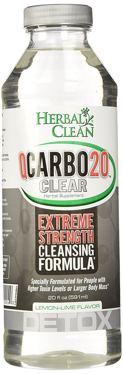 Herbal Clean QCarbo20 Clear, Lemon-Lime 20 fl oz (591 ml) * Tried it! Love it! Click the image. : Detox and Cleanse