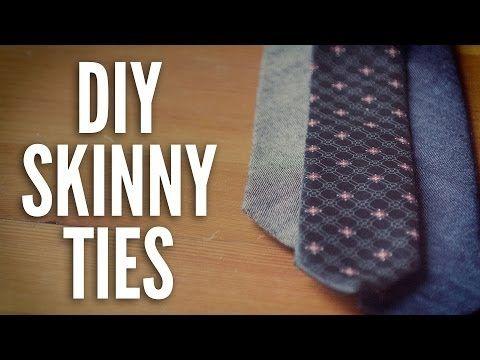 How To Make A Skinny Tie - DIY Skinny Ties - YouTube