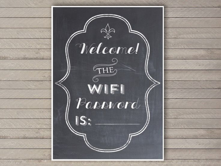 """5x7"""" Wifi Password Printable -- Instant Download -- Print-at-Home -- Share your Wifi Password with House Guests by EastwoodEclectic on Etsy https://www.etsy.com/listing/235521442/5x7-wifi-password-printable-instant"""