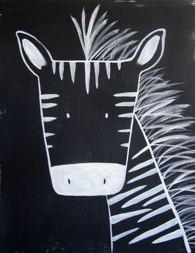 The Zebra - could possibly become a guided drawing lesson if simplified