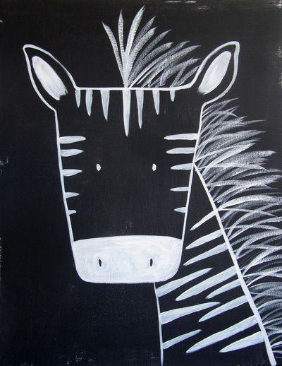 No. 0013 - Modern Kids and Nursery Art - The Zebra Art Print