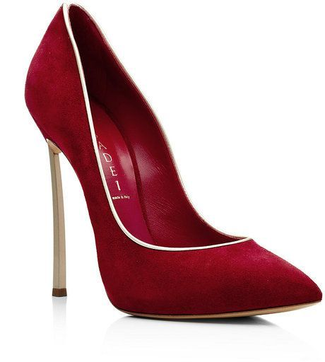 Casadei Red Orchid Red Suede Court 2013